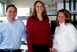 David Altshuler, Wendy Winckler, and Stacey Gabriel (l-r). Not included in the photo are Broad Investigators Gavin McDonald, Rob Onofrio, David Reich, and Dan Richter.